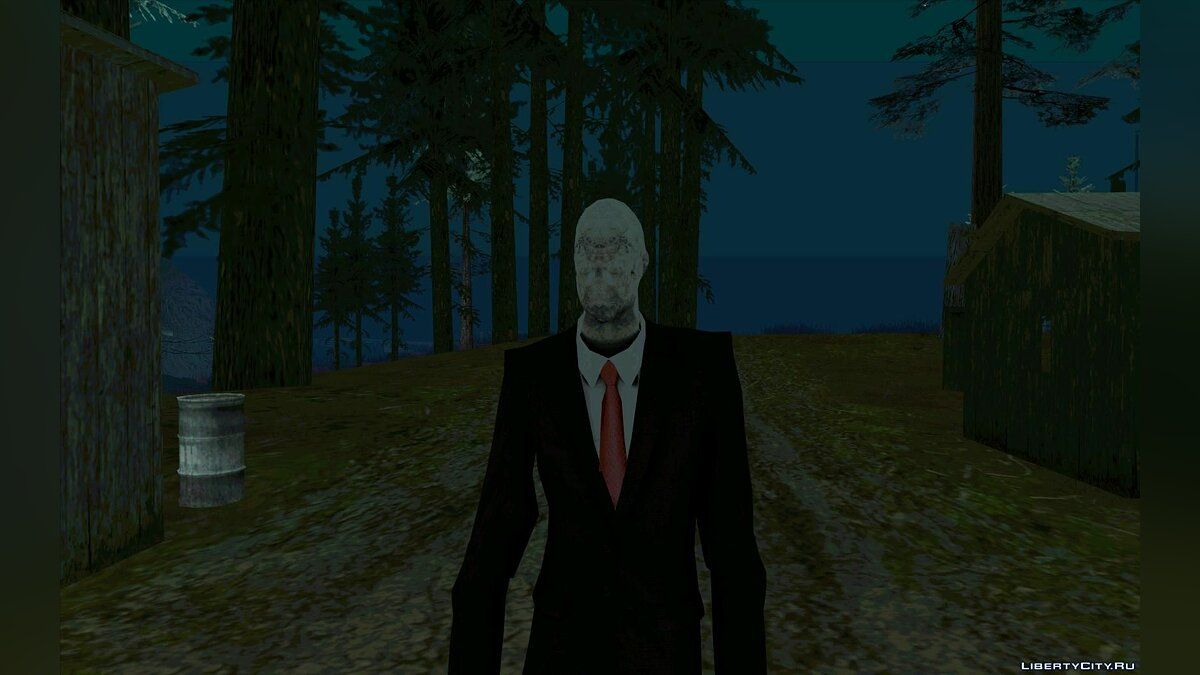 Slender from Slеnder Man the Arrival для GTA San Andreas - скриншот #4