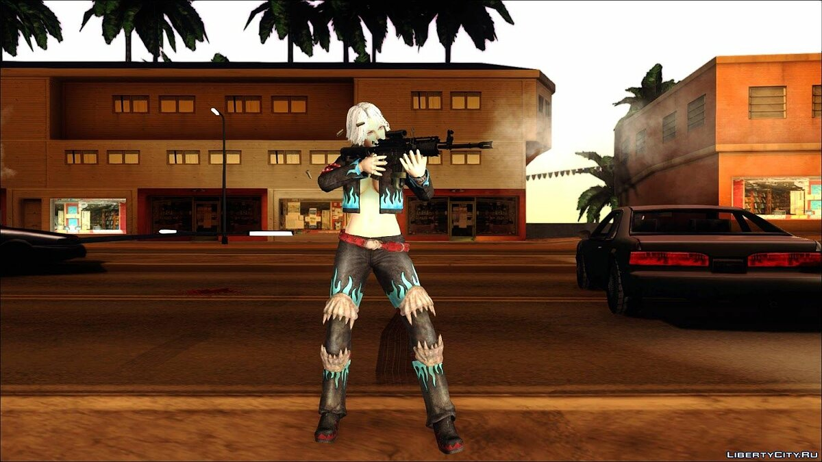 Dead Or Alive 5 Doa5 Christie Leather Costume для GTA San Andreas - скриншот #2