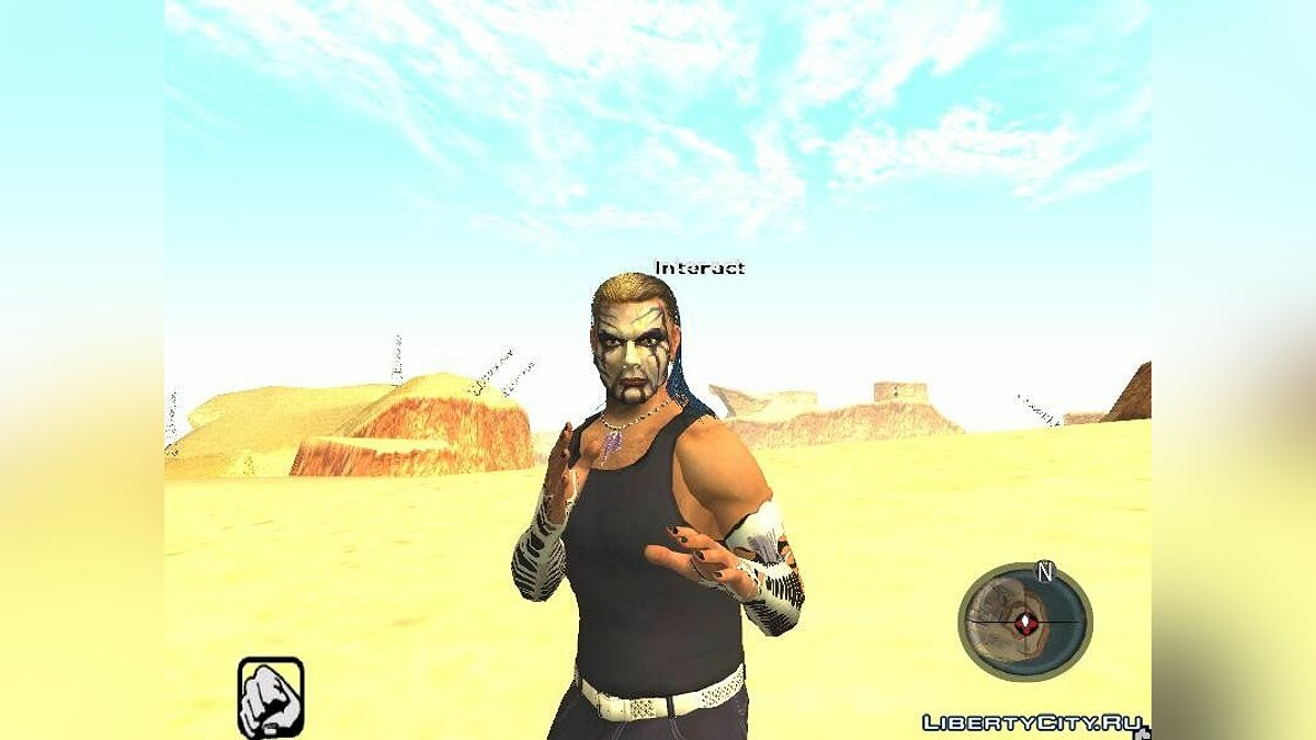 The Real Jeff Hardy mod (convert from SvR 2010) для GTA San Andreas