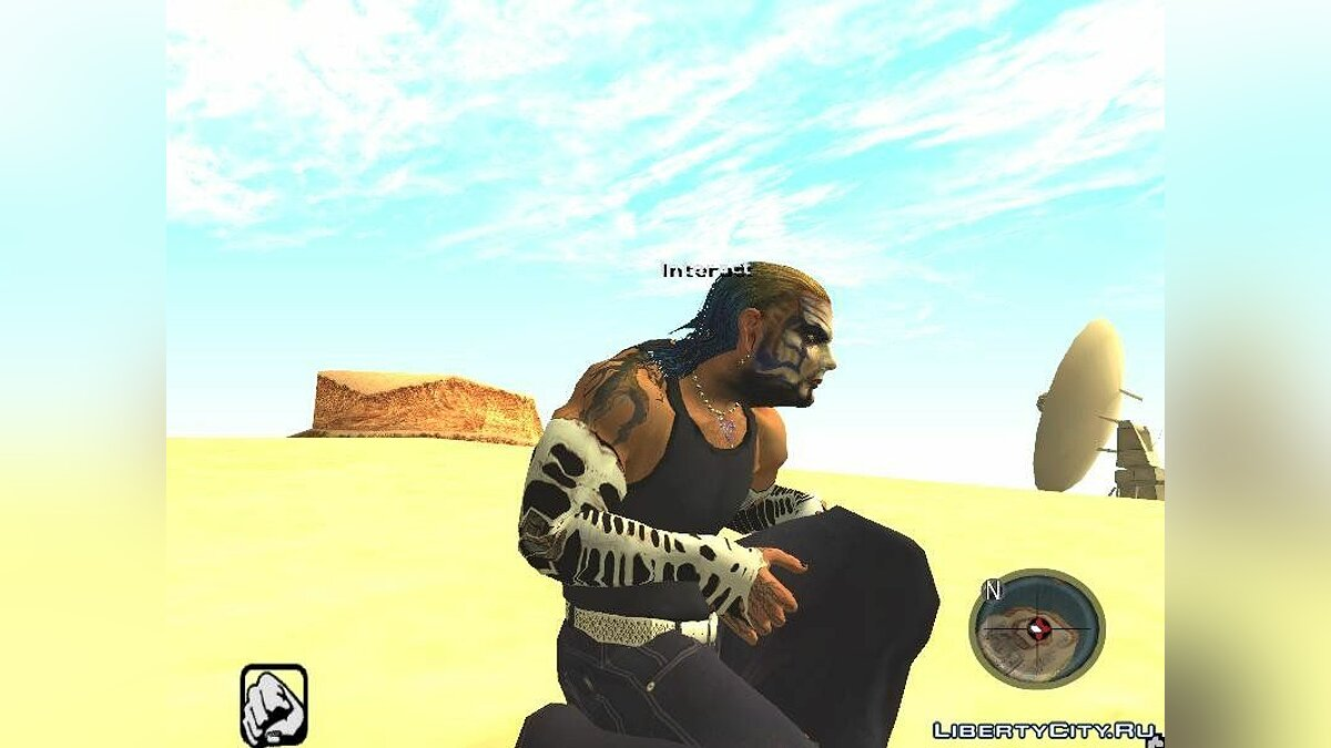 The Real Jeff Hardy mod (convert from SvR 2010) для GTA San Andreas - скриншот #3