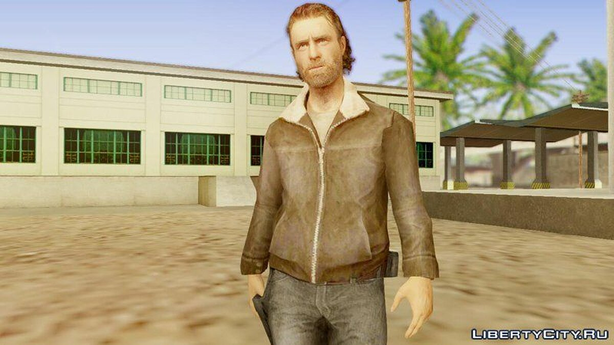 The Walking Dead No Man's Land Rick для GTA San Andreas