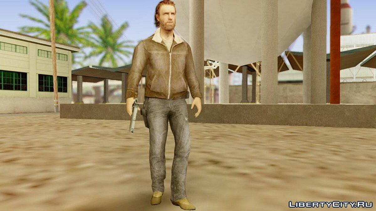 The Walking Dead No Man's Land Rick для GTA San Andreas - скриншот #3