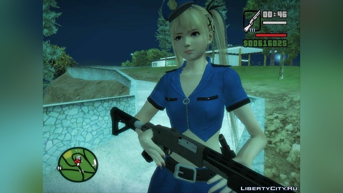 Dead Or Alive 5:Last Round - Marie Rose (Police V2) для GTA San Andreas