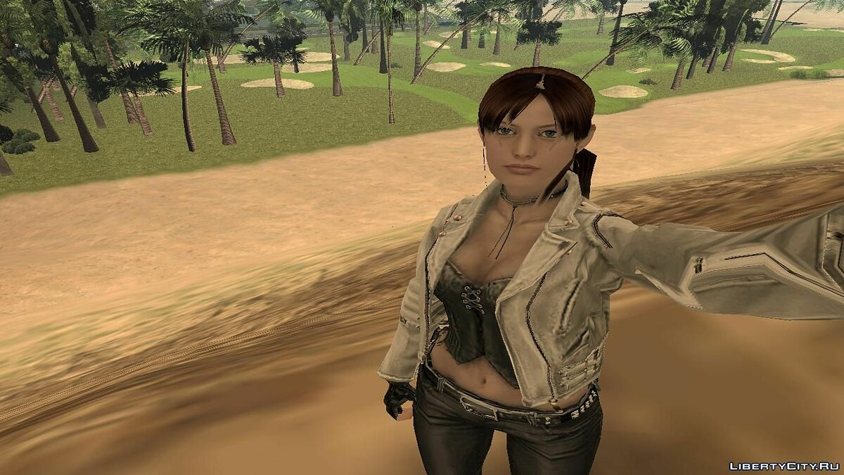 Claire Redfield biker для GTA San Andreas - скриншот #3