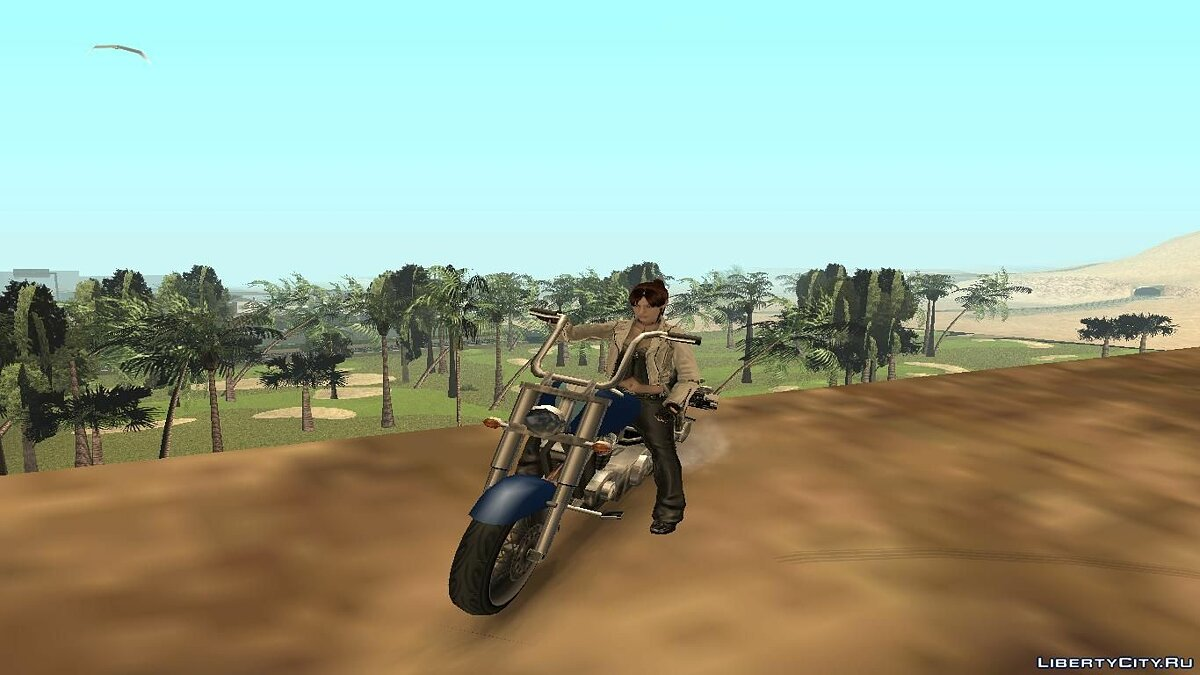 Claire Redfield biker для GTA San Andreas - скриншот #4