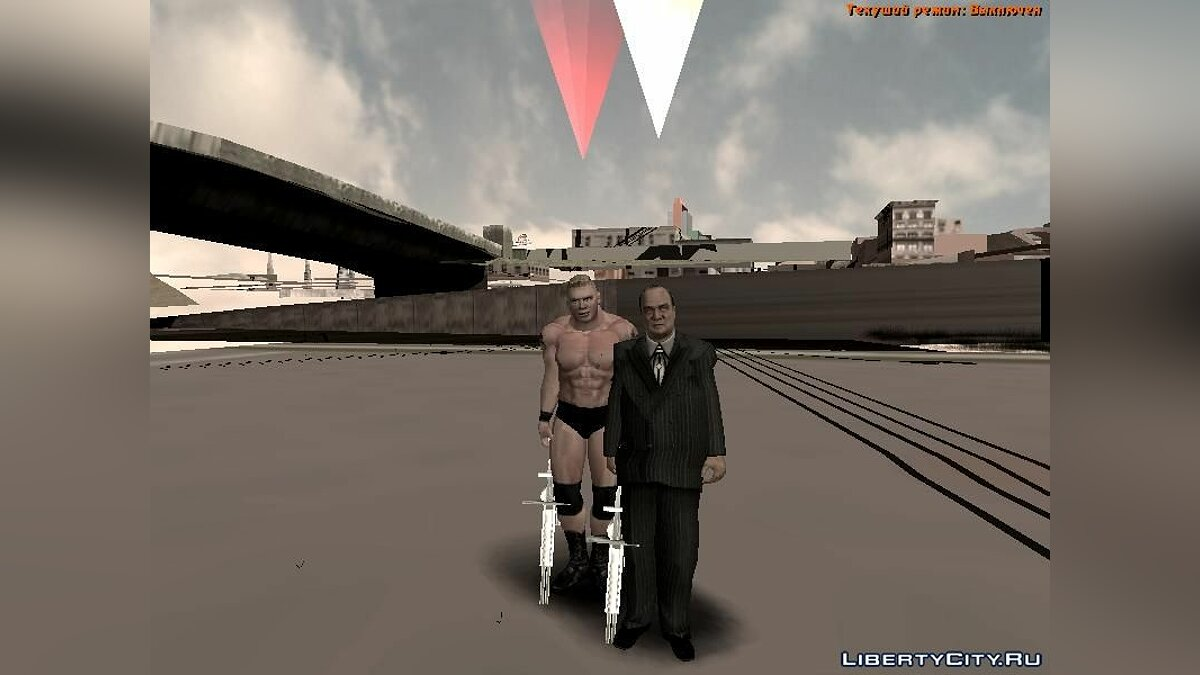 Paul Heyman SvR 2008 ps2 для GTA San Andreas - скриншот #3
