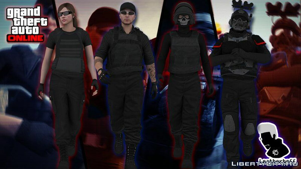 Новый персонаж GTA V Online Skin Pack #3 (Black Operations) для GTA San Andreas