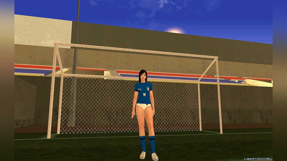 Новый персонаж Kokoro Italy National Football Team для GTA San Andreas