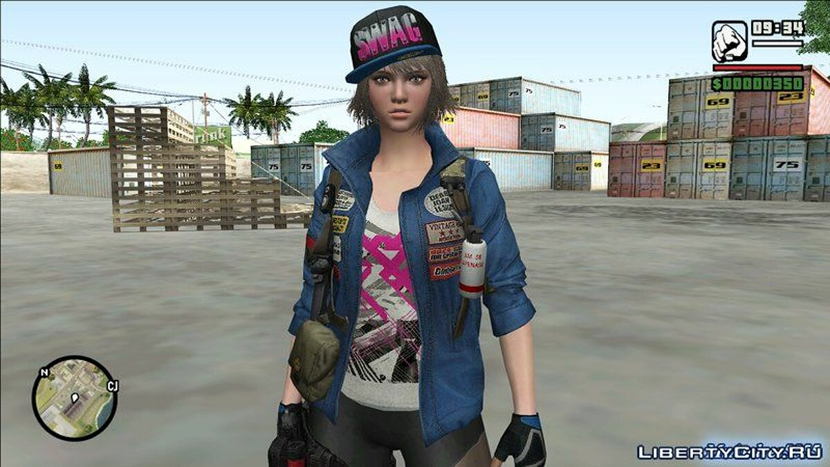 Swag Girl from Sudden Attack 2 для GTA San Andreas