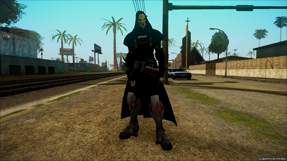 Reaper from Overwatch для GTA San Andreas