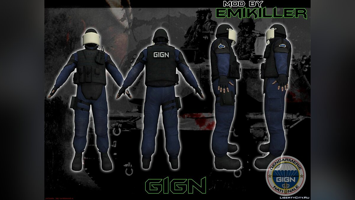 GIGN from CS:GO [v.1] для GTA San Andreas