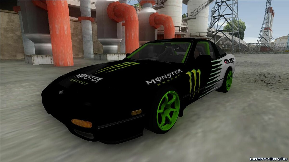 Nissan 240SX Drift Monster Energy для GTA San Andreas - скриншот #3