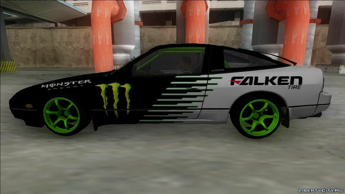 Nissan 240SX Drift Monster Energy для GTA San Andreas - скриншот #2