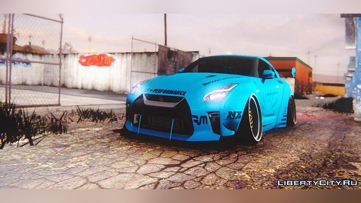 2017 Nissan GTR R35 Premium Liberty Walk LB Performance для GTA San Andreas