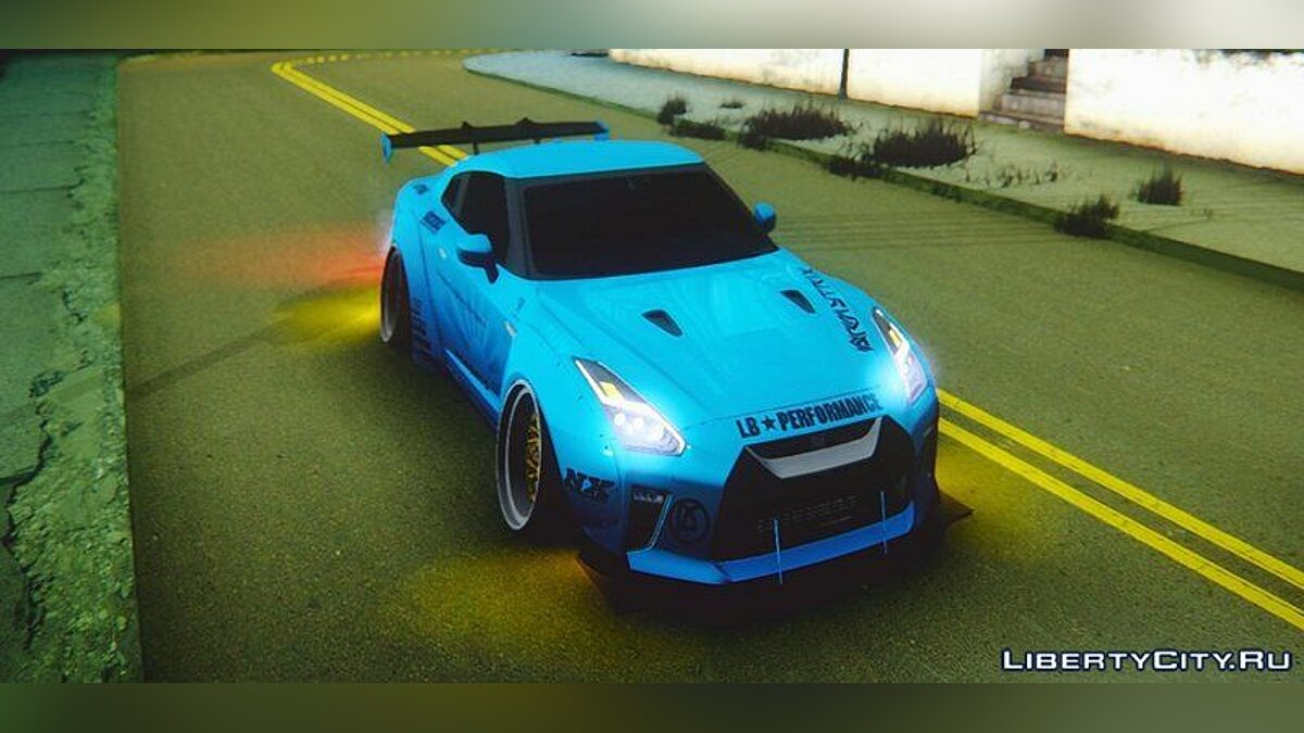2017 Nissan GTR R35 Premium Liberty Walk LB Performance для GTA San Andreas - скриншот #5
