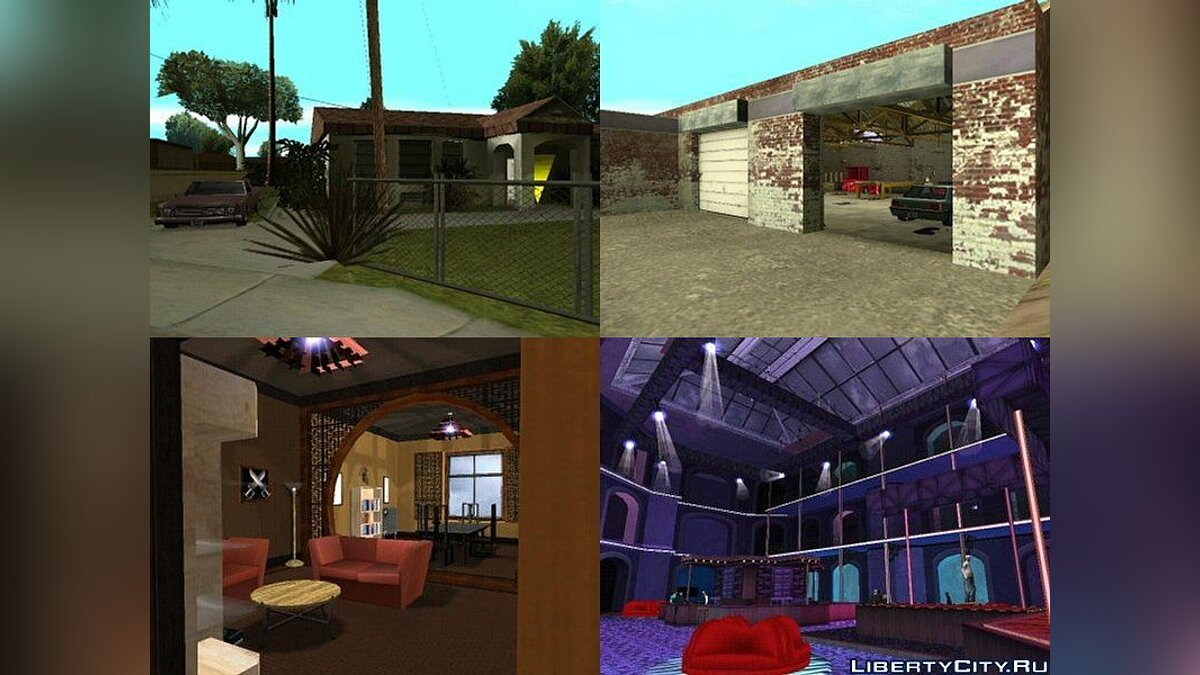 Новый объект GTA SA Enterable Buildings Mod для GTA San Andreas