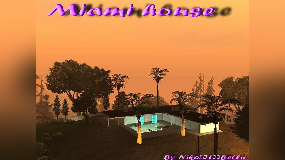 GTA SA Miami House для GTA San Andreas