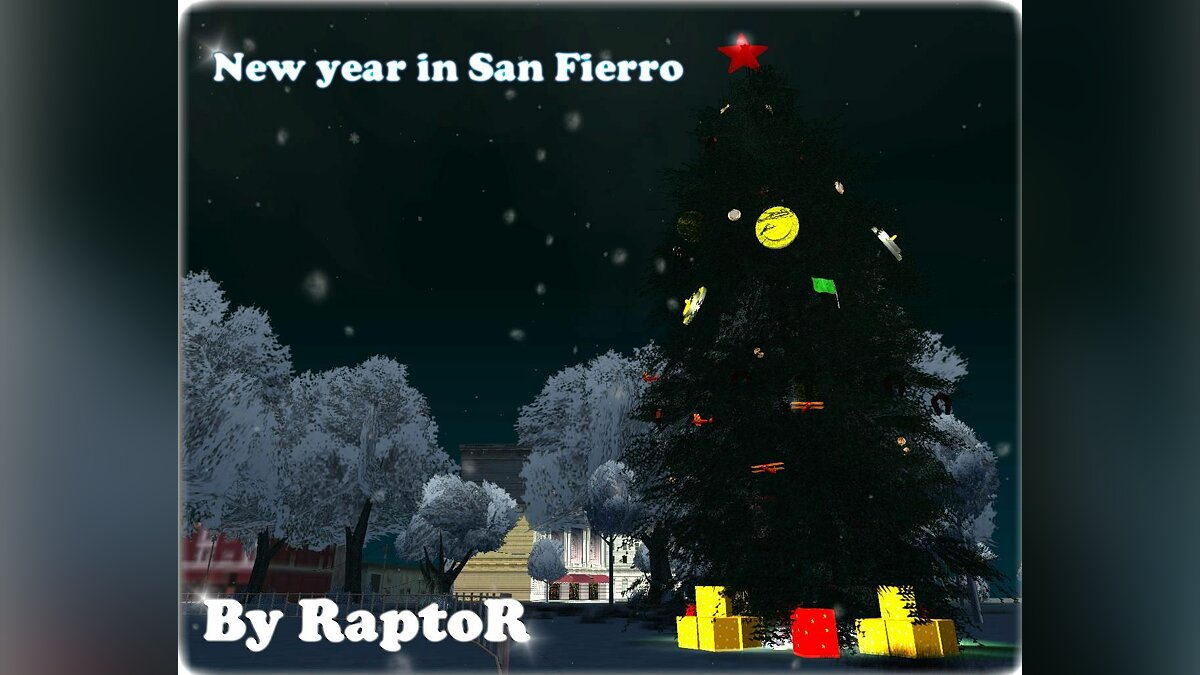 Новый объект New year in San Fierro для GTA San Andreas