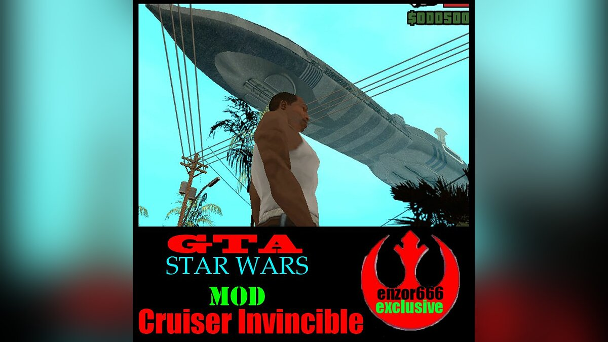 Star Wars Cruiser Invincible для GTA San Andreas