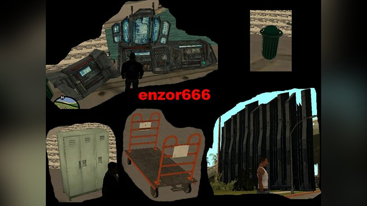 Mini pack object Half - Life v1 для GTA San Andreas