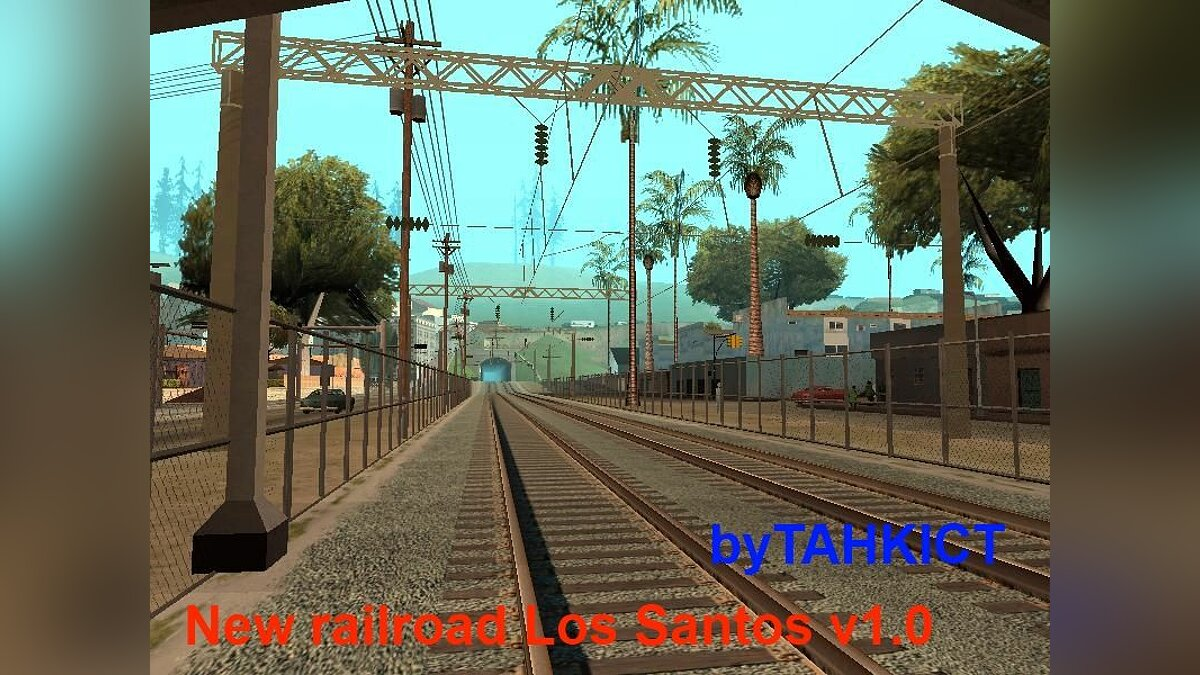 New railroad Los Santos v1.0 для GTA San Andreas