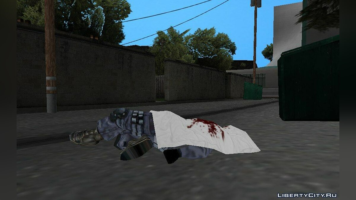 ��овый объект Corpse of a military policeman для GTA San Andreas