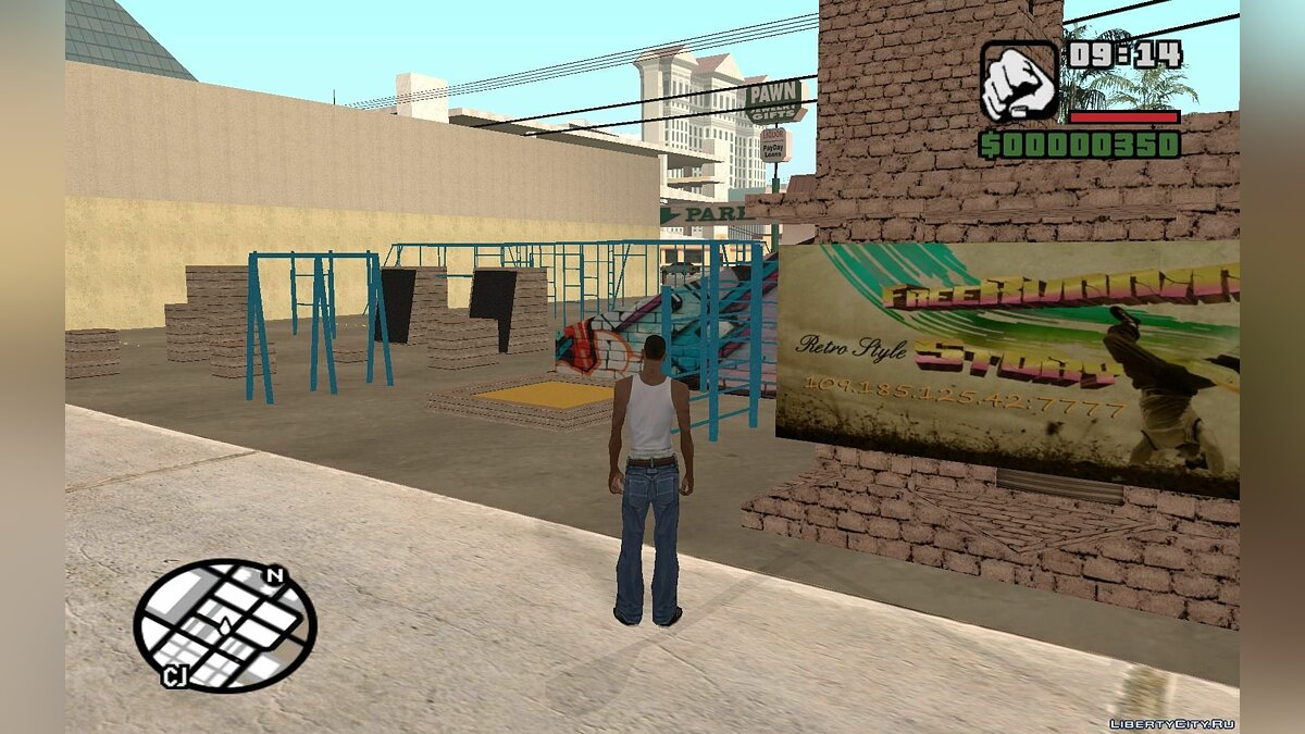 FreeRunning and Parkour Spot для GTA San Andreas - скриншот #3