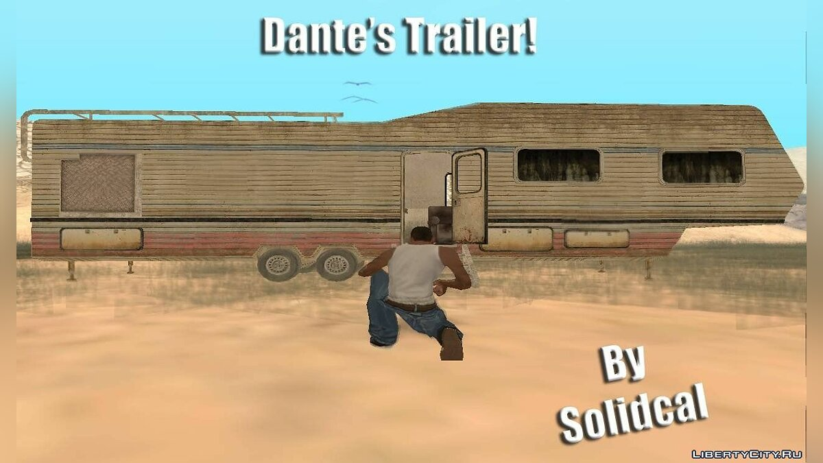 Dante's trailer from the new DMC game для GTA San Andreas