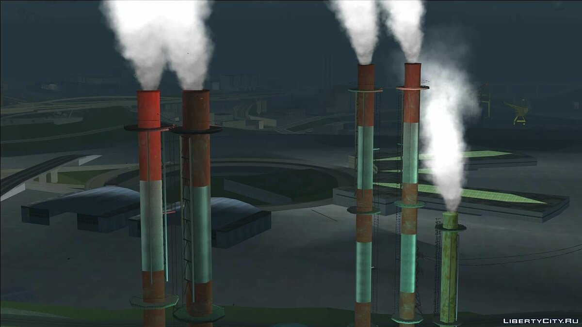 Smoke in factory pipes для GTA San Andreas