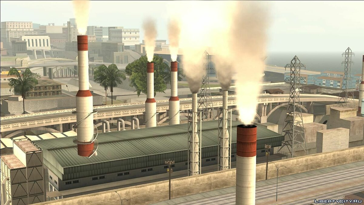 Smoke in factory pipes для GTA San Andreas - скриншот #6