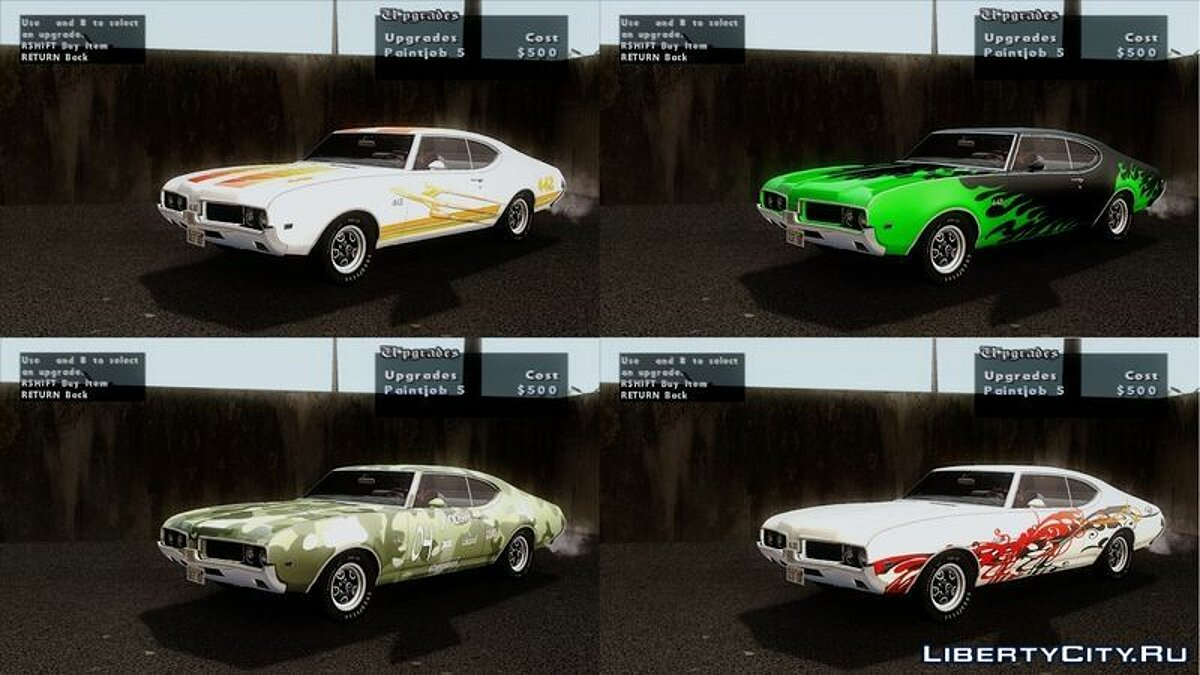 Машина Oldsmobile Oldsmobile 442 Holiday Coupe (4487) 1969 для GTA San Andreas