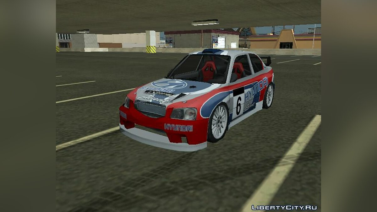 Accent Coupe Rally Car для GTA San Andreas
