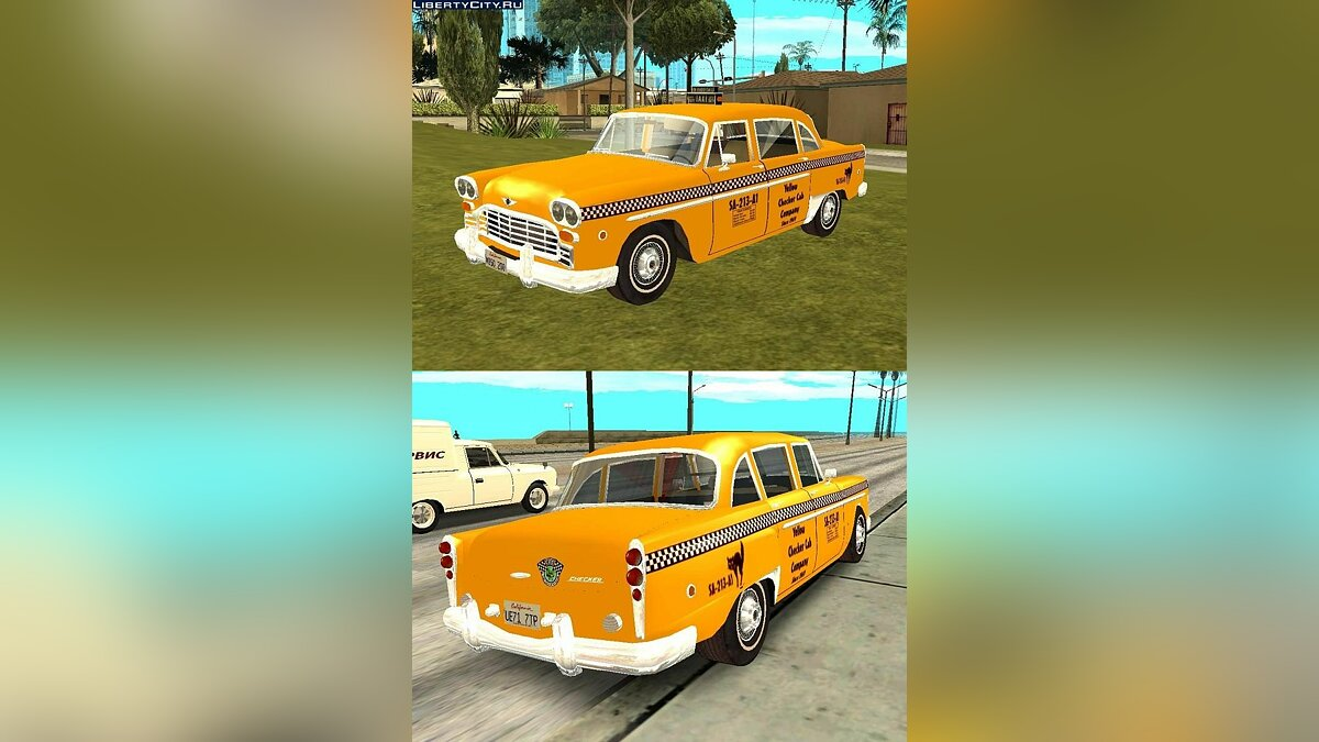 Checker Marathon Taxi для GTA San Andreas