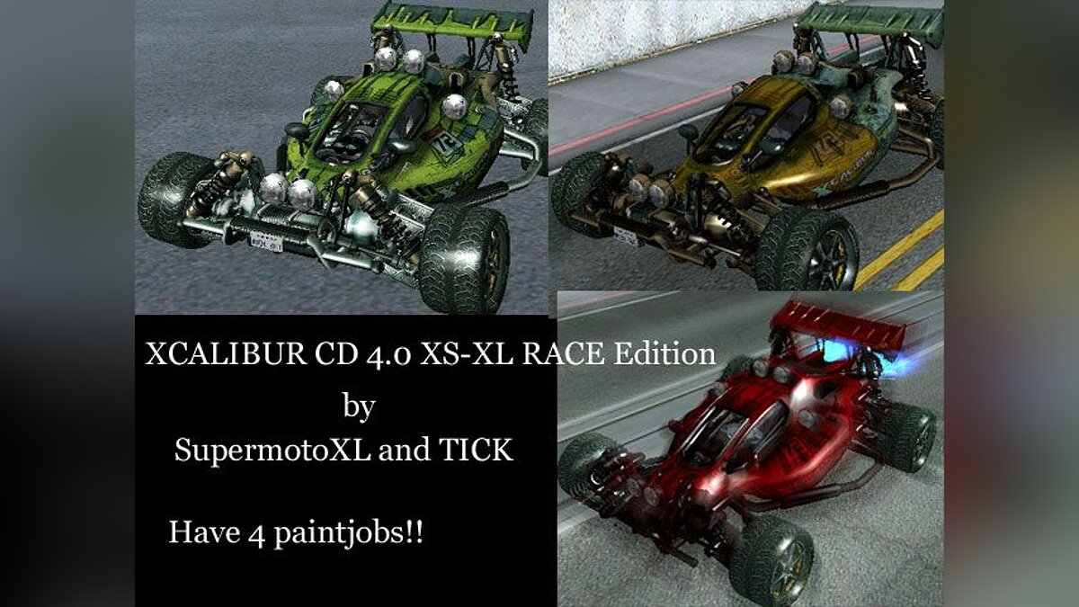 Xcalibur CD 4.0 XS-XL Race Edition для GTA San Andreas