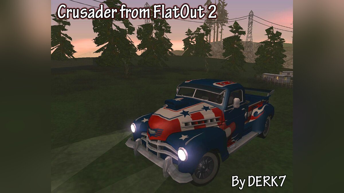 Crusader from FlatOut 2 для GTA San Andreas