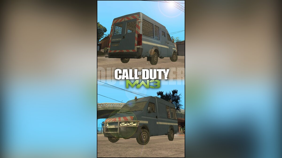 Incasation car from Call of Duty MW3 для GTA San Andreas