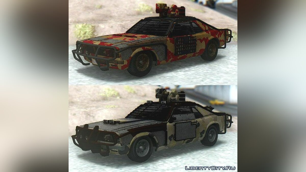 ��ашина GTA V Declasse Tampa Weaponized & Worn для GTA San Andreas