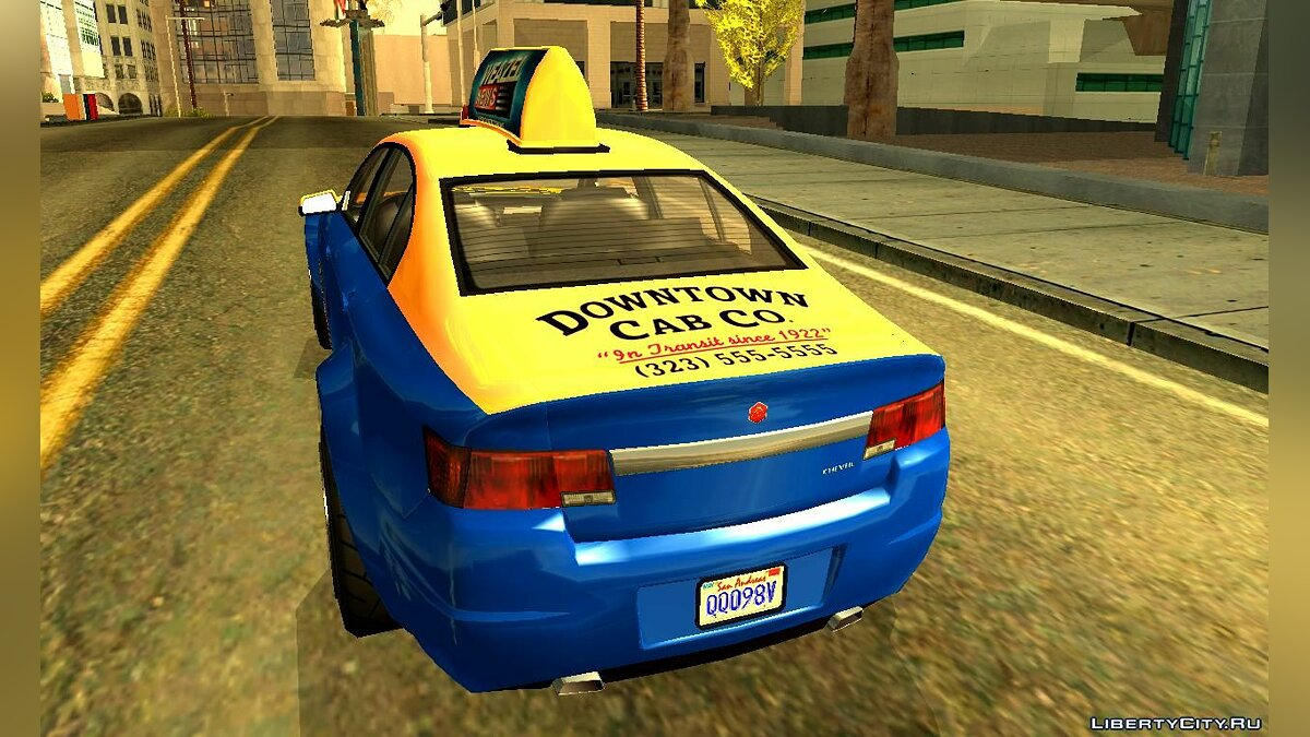Cheval Fugitive Downtown Cab Co. Taxi для GTA San Andreas - скриншот #2