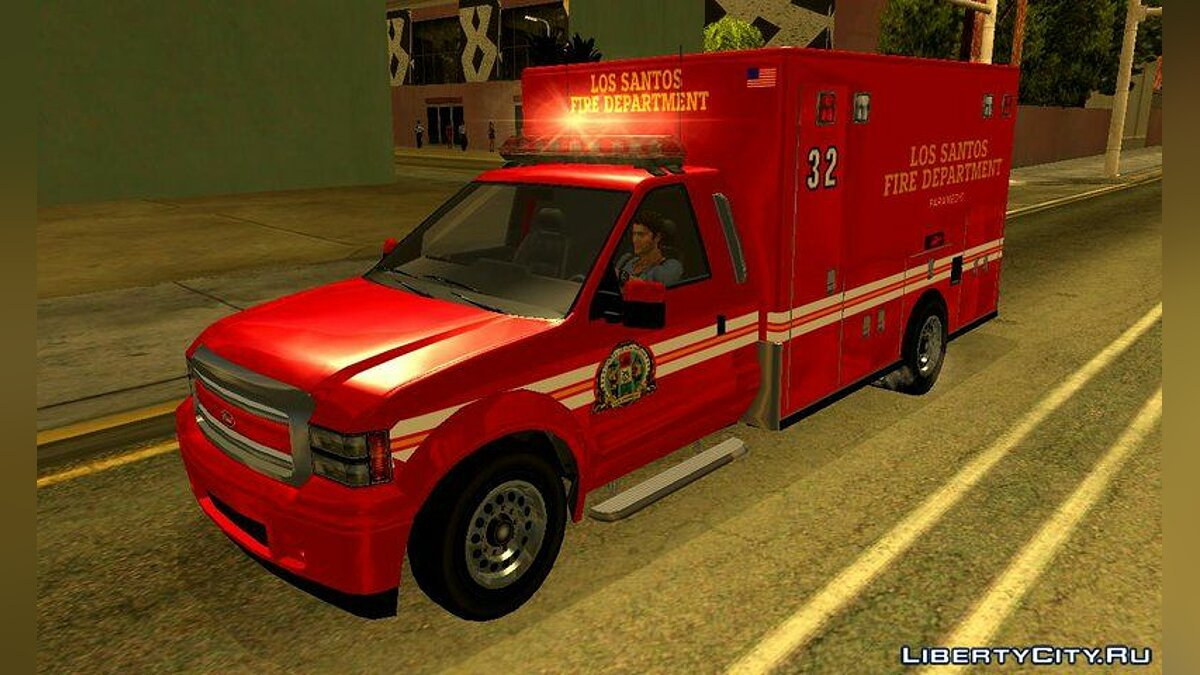 ��ашина GTA V Vapid Sadler Ambulance для GTA San Andreas