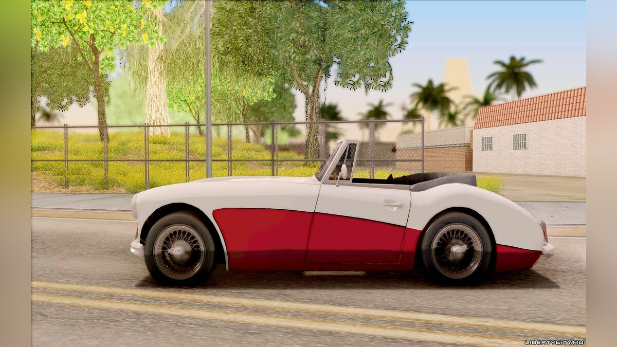 Austin Healey 3000 Black Revel для GTA San Andreas - скриншот #6