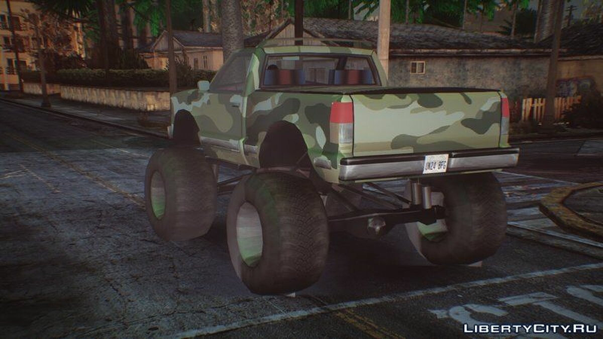 Машина Monster A and Monster B Camo Edition Pack (HQ/IVF) для GTA San Andreas