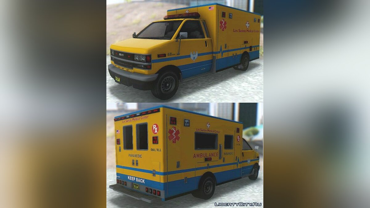 ��ашина GTA V Brute Ambulance для GTA San Andreas
