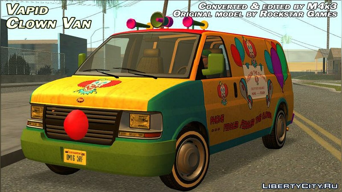 Vapid Clown Van для GTA San Andreas