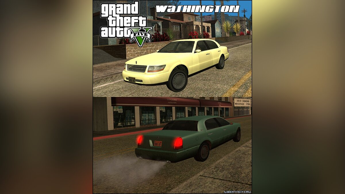 GTA V Washington для GTA San Andreas