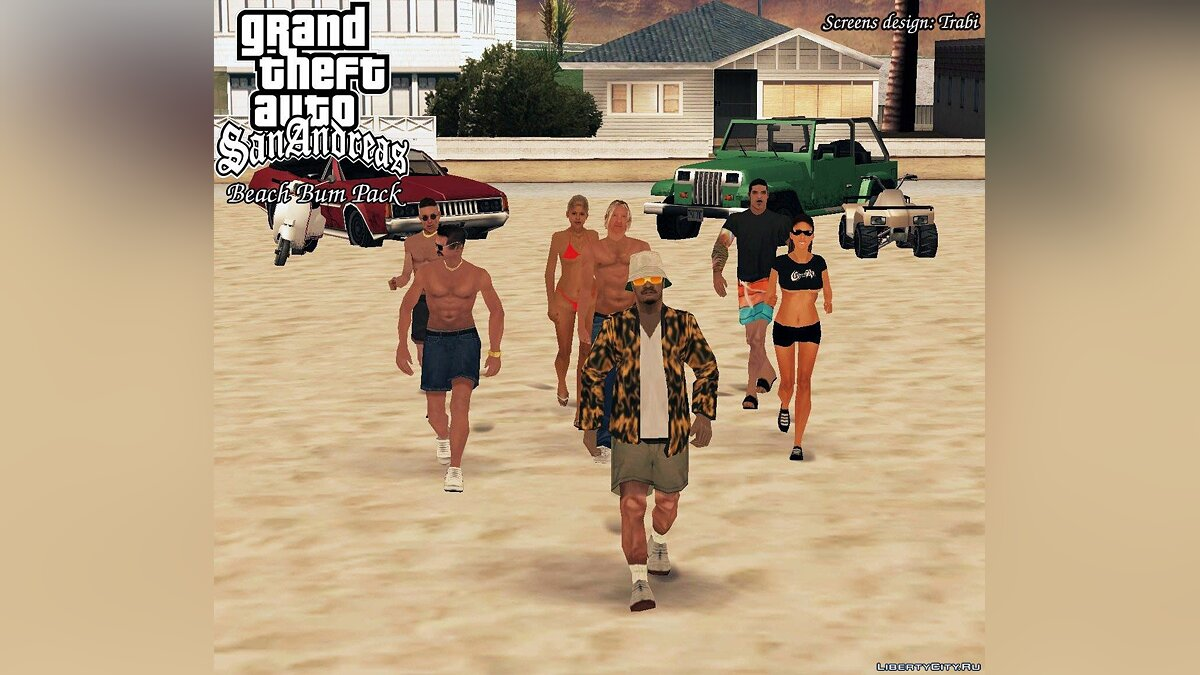 Beach Bum Pack [GTA SA edition] для GTA San Andreas