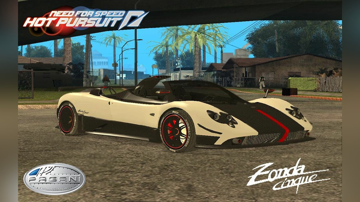 Pagani Zonda Cinque Roadster V2 from Need for Speed Hot Pursuit 2010 для GTA San Andreas