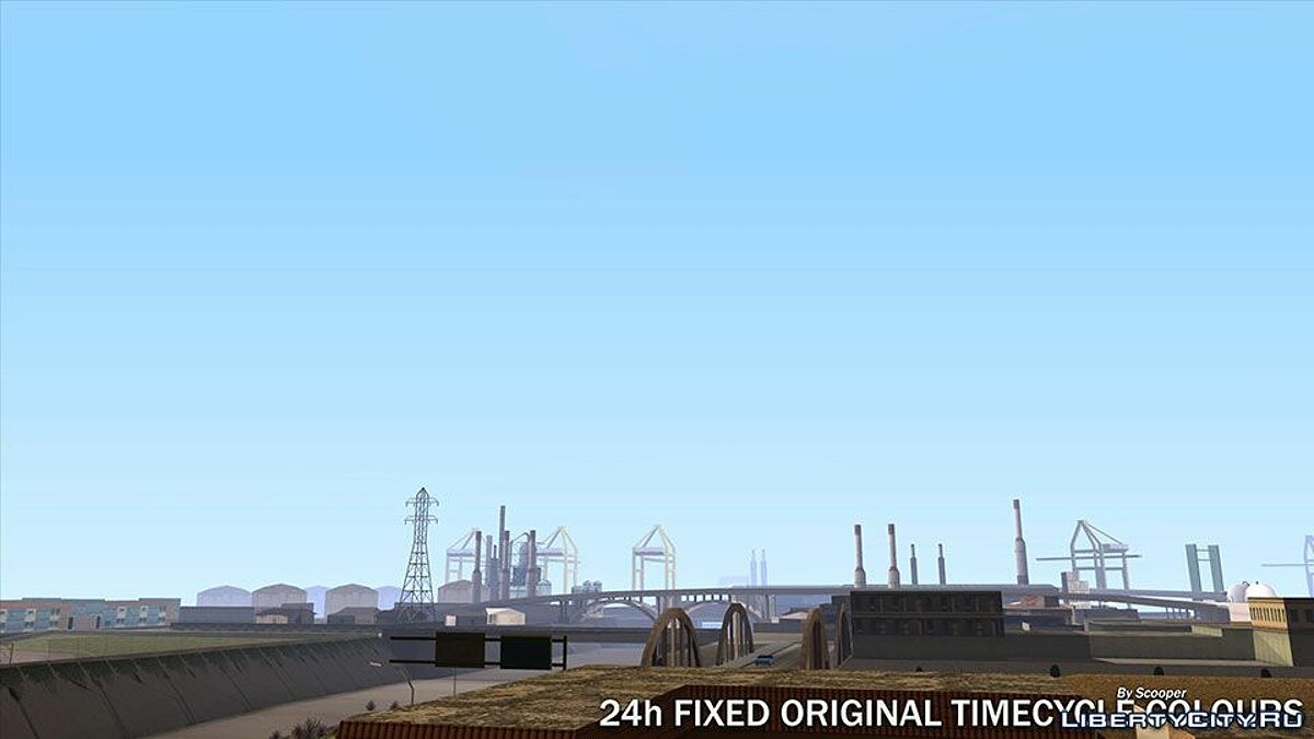 Мод 24h Fixed Original TimeCycle Colours 1.1 для GTA San Andreas