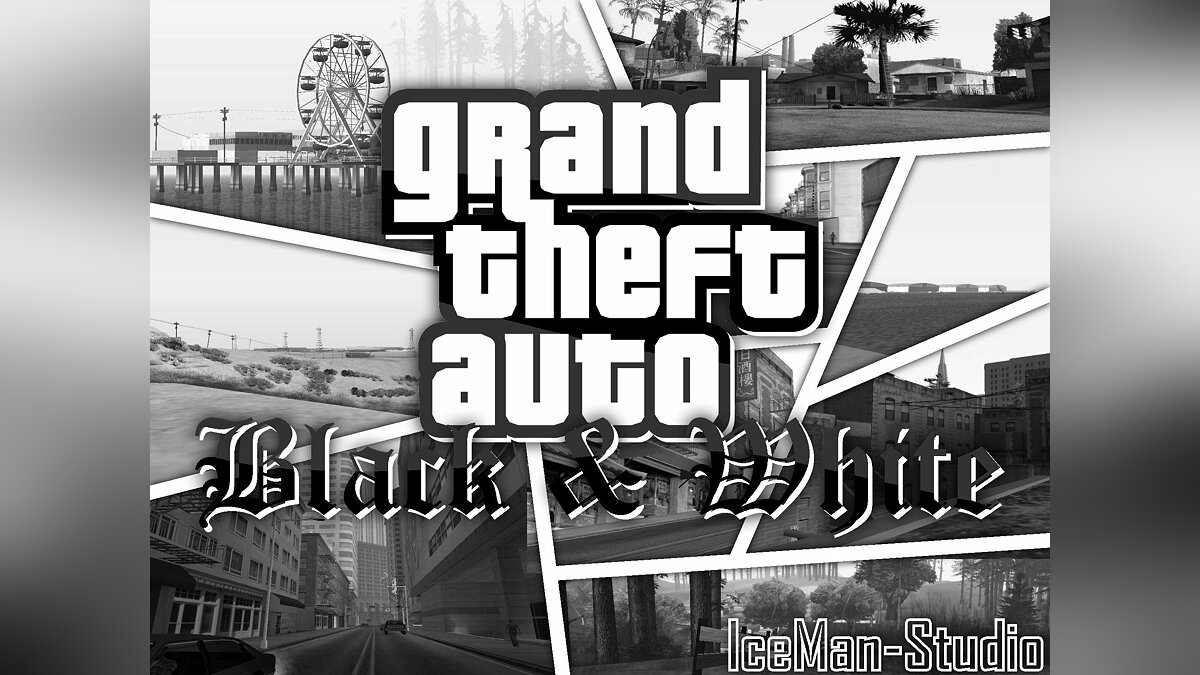 GTA SA - Black & White для GTA San Andreas
