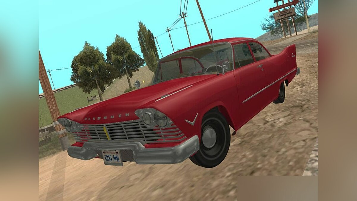 ��ашина Plymouth Plymouth Savoy Club Sedan 1957 v1.2 для GTA San Andreas