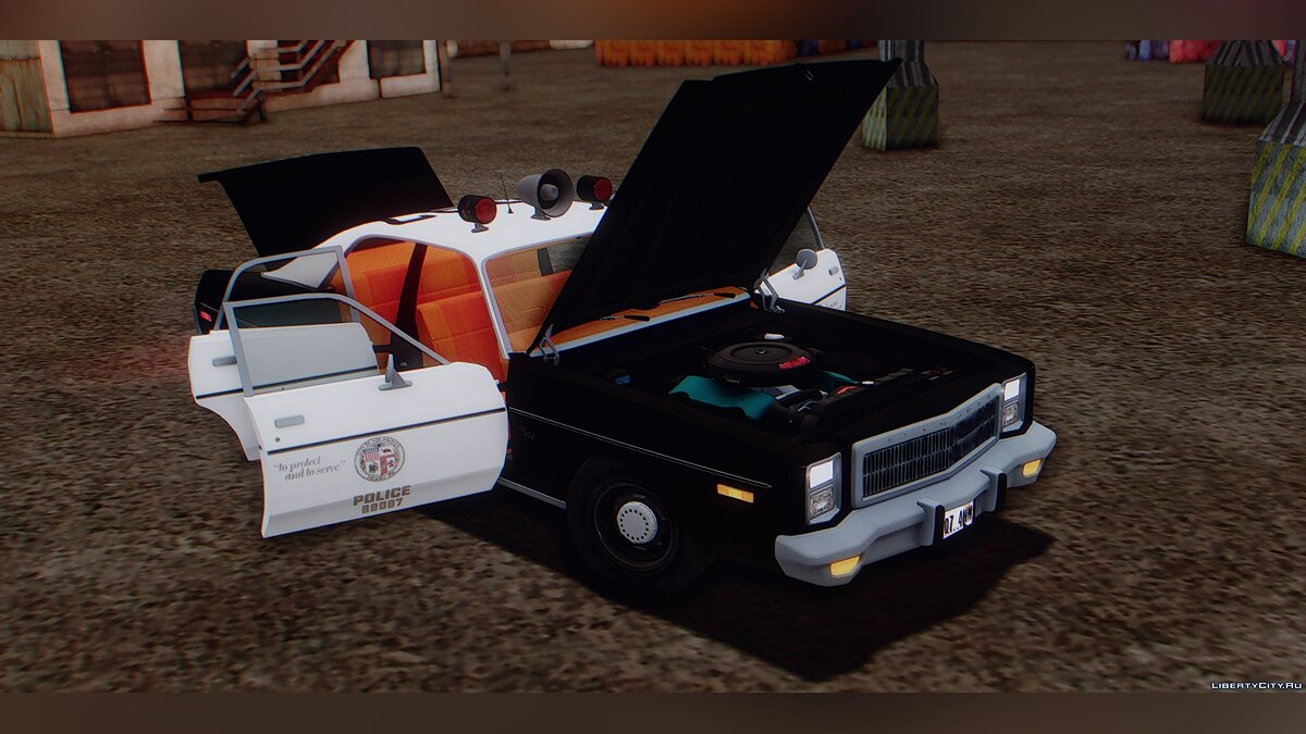 Машина Plymouth Plymouth Fury Los Angeles Police Departament 1978 для GTA San Andreas